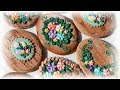 Rustic Easter Egg Cookie with Flowers
