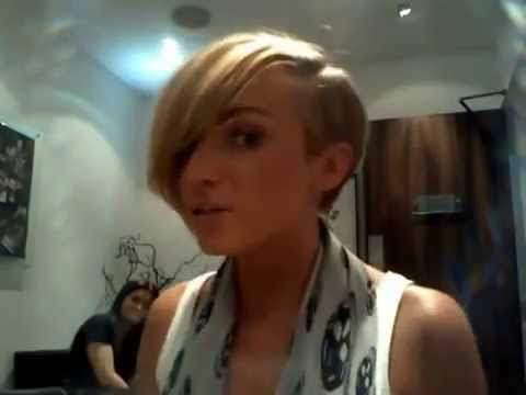 Haircut From Long Blonde Hair To A Frankie Sandford Style Cut Youtube