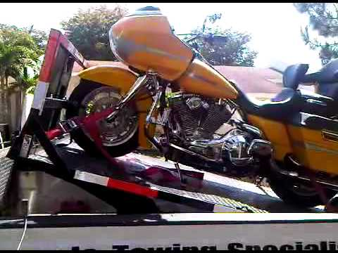 How To Tie Down A Harley Davidson Motorcycle On Trailer ...