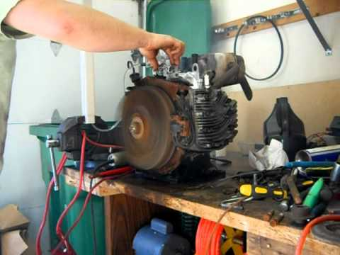 Briggs 18 hp twin opposed first run youtube sciox Images