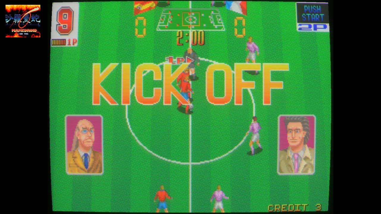 EURO CHAMP 92 MAME video snapshot Rom name euroch92 - Videojeugos arcade