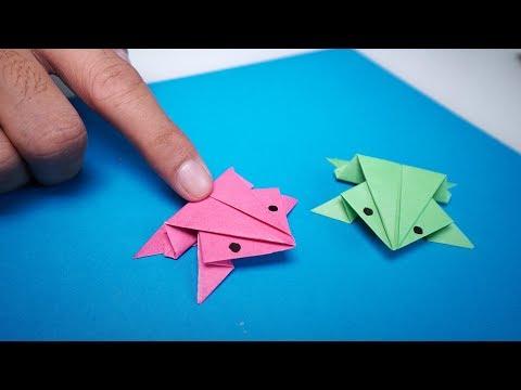 Hướng Dẫn Gấp Con Ếch Bằng Giấy Làm Đồ Chơi Trẻ Em | How to DIY Crafts Easy & Paper Jumping Frog