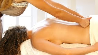 How To Massage Basics – Part 1 Back Massage Therapy Techniques - 60 FPS