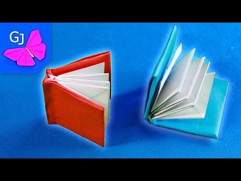 Оригами книжка из бумаги ❤️ Мини книга своими руками