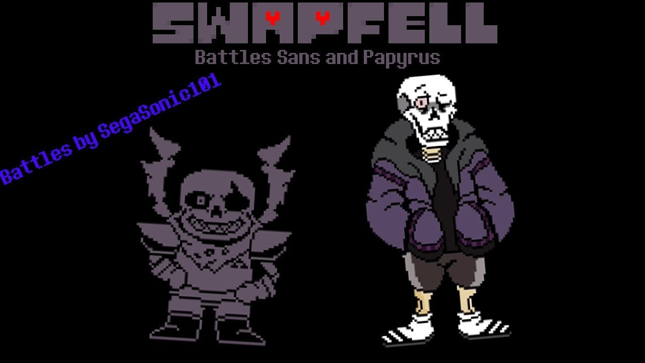 Swapfell Sans and (old) Papyrus Battle [Undertale Fangames, on scratch]