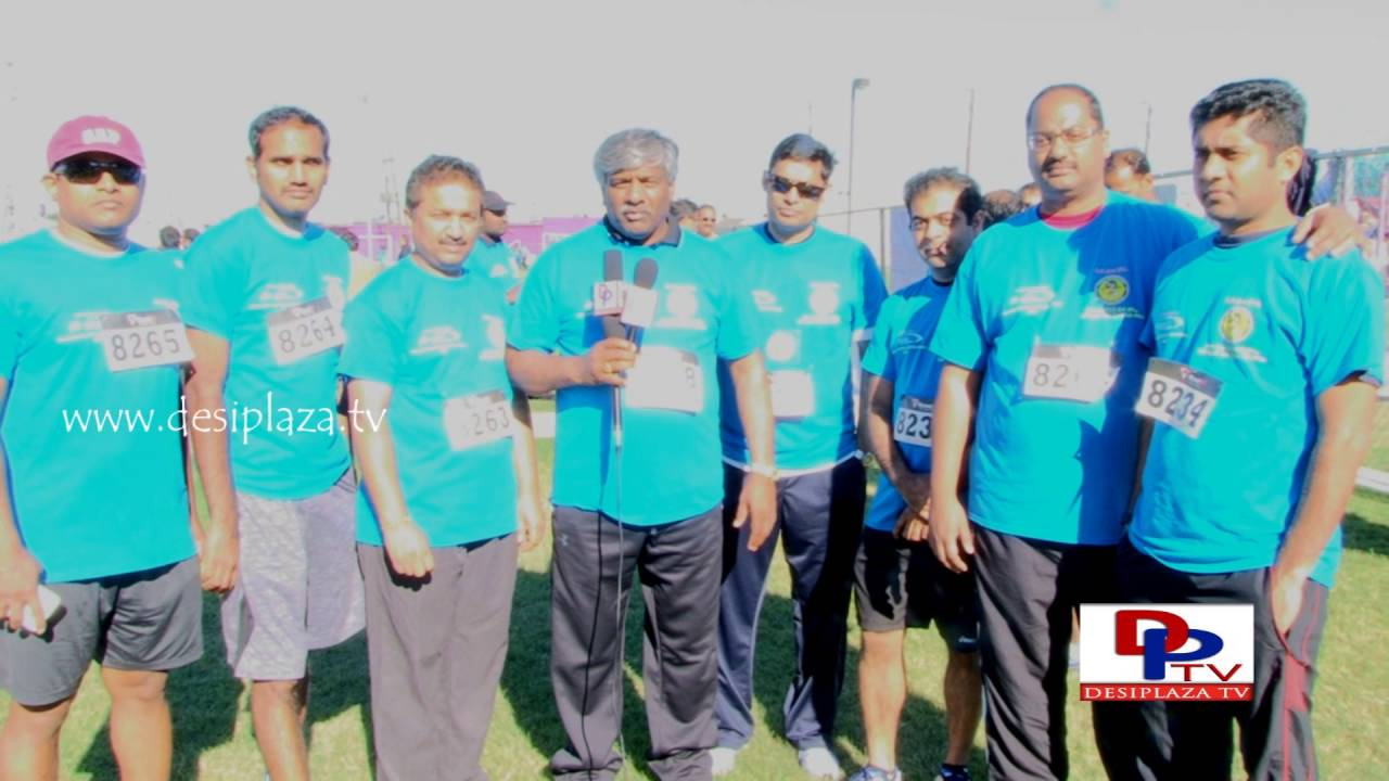 Guests speaking at TANA Mana Oori Kosam 5K Walk & Run