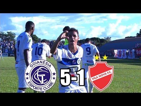 Gols - Goianésia 5x1 Vila Nova - Campeonato Goiano 2017 - 9ª Rodada