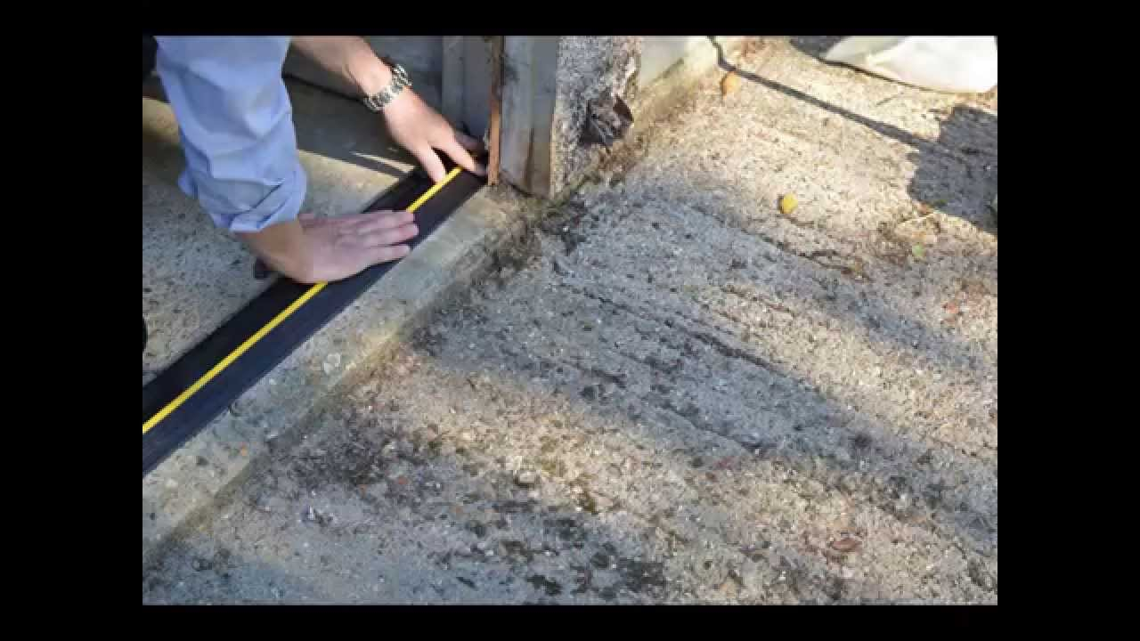 Garage Floor Water Stopper : Weather defender garage door floor seal installation youtube