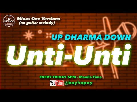 Up Dharma Down -  Unti Unti acoustic minus one guitar cover