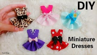 creative diy 5 designs miniature dresses out of ribbons in minutes super easy
