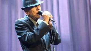 Leonard Cohen - La Manic (Georges Dor cover) - Colisèe Pepsi, Quebec City - 02-12-2012