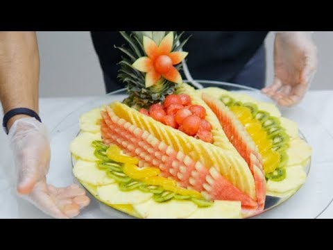 HOW TO MAKE A FRUIT CENTERPIECE LIKE A PRO | Fruit and Vegetable Carving