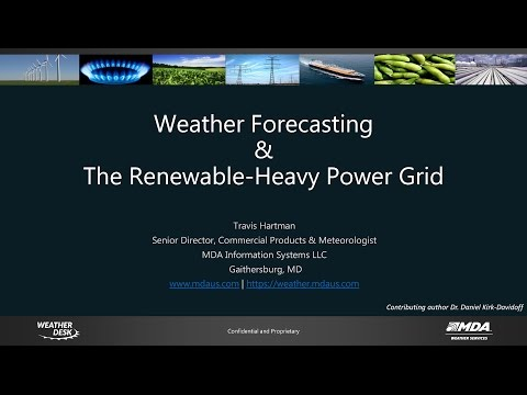 Weather, Renewables, and the Electric Grid