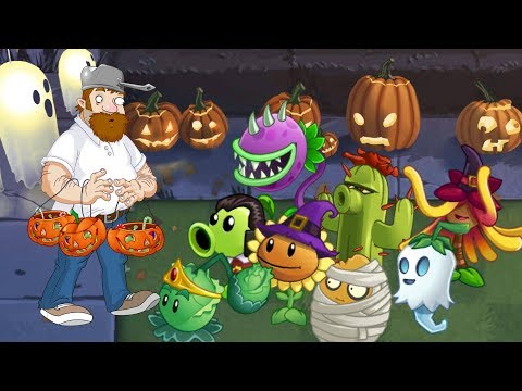Plants vs. zombies 2 ANIMATION Halloween 2 (Cartoon) Lawn of Doom