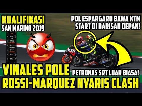 HASIL KUALIFIKASI MOTOGP SAN MARINO 2019!! ROSSI-MARQUEZ NYARIS CLASH! VINALES POLE, QUARTARARO #3