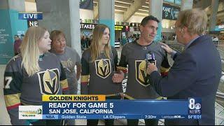 VGK Fans travel to San Jose for Game 5