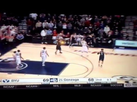 hilarious announcing at the end of BYU Gonzaga basketball game