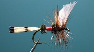 "[HD] Fly tying / Royal Coachman. ロイヤルコーチマンをフライタイイング / Fly fishing ""FlyTier"