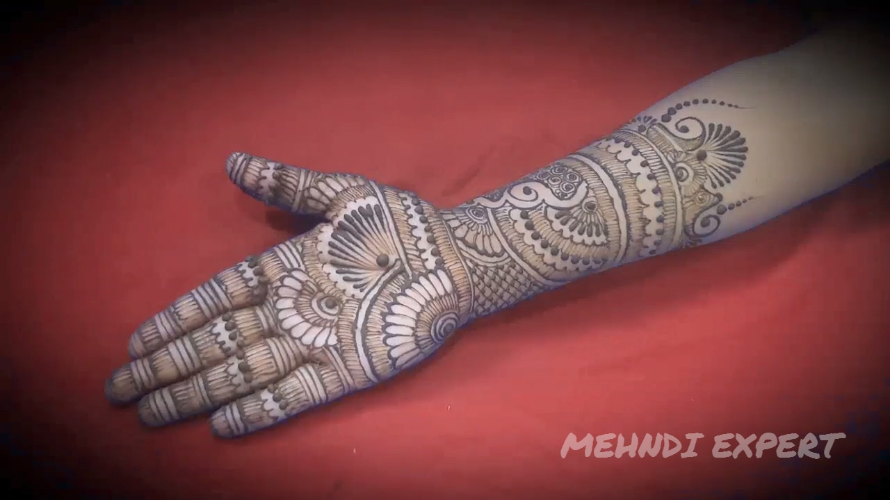 d36689cef Traditional Bridal Mehndi or Henna Design l Step by Step Tutorial ...