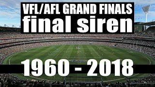 VFL/AFL Grand Finals 1960-2018 (Final Siren)