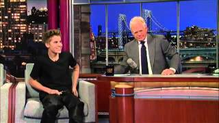 Justin Bieber on David Letterman About His New Tattoo.FLV