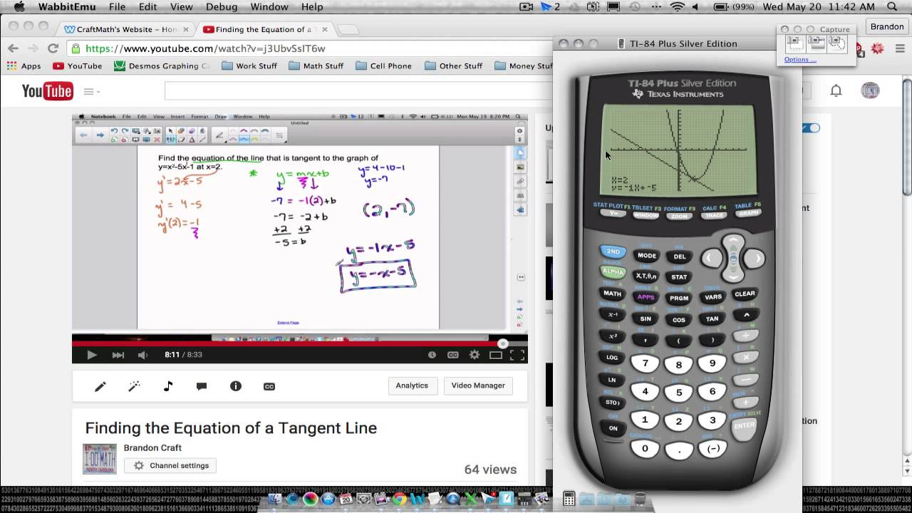 Ti 84 Equation Of A Tangent Line