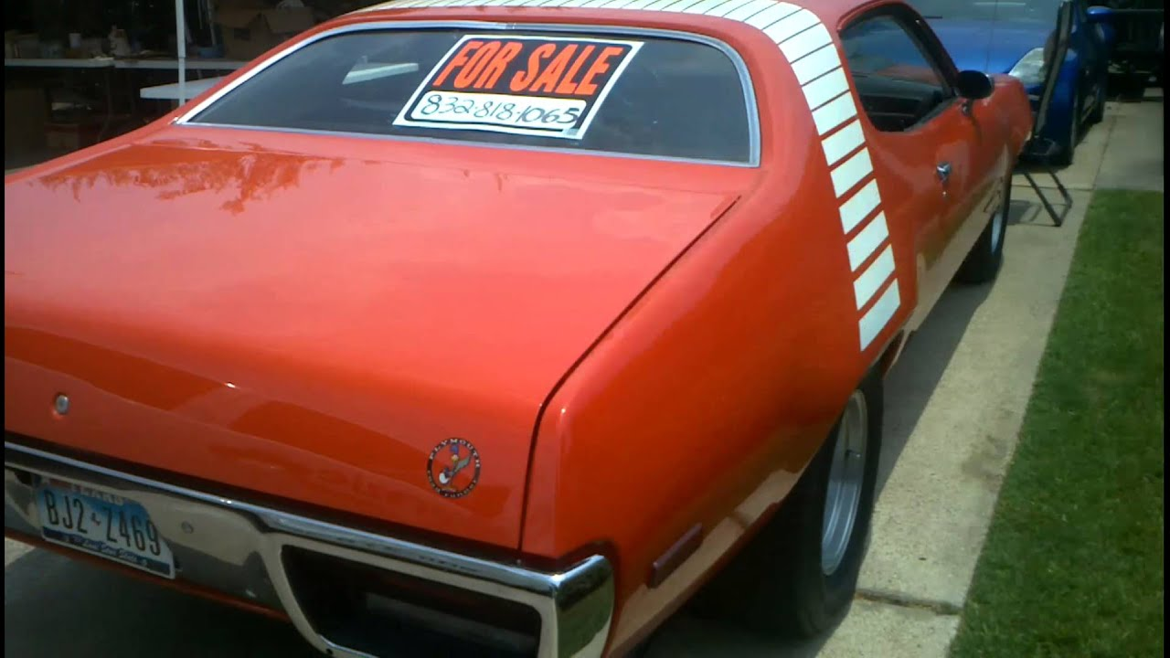 Find My Car Houston >> 72 Roadrunner Clone for sale. - YouTube