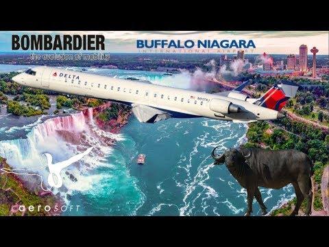 Aerosoft CRJ 900 Pro, Vatsim USA Buffalo Niagra Falls.