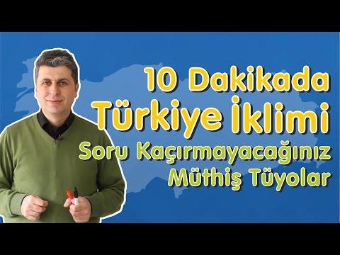 10 Dakikada Türkiye İklimi (Soru Kaçırmayacağınız Müthiş Tüyolar)