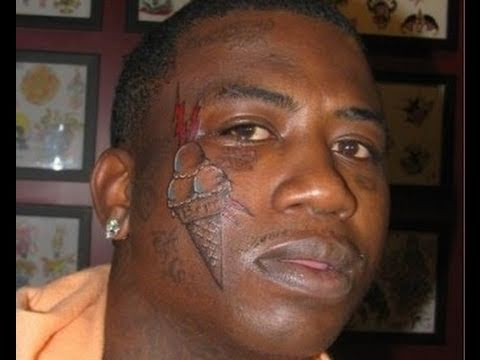 Gucci mane shows off new ice cream face tattoo photos for Best cream for new tattoo