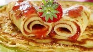 Вкусные Блины  Рецепт Вкусных Блинов с Оливковым Маслом  Как сделать блины