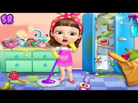 Sweet Baby Girl Cleanup Kids Games - Play House Playground Clean Up Fun Games For Girls