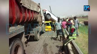 Accident sur le péage   Un camion provoque un carambolage sur l'autoroute