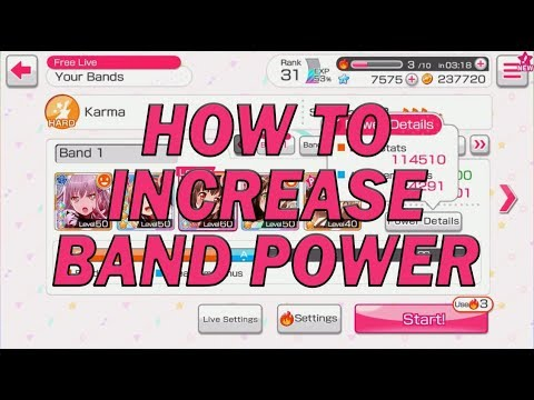 BanG Dream! Girls Band Party! - How to Increase Band Power