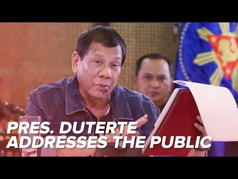 LIVE | Pres. Duterte addresses the nation