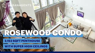 ROSEWOOD CONDO | 2,152 sq ft. Penthouse with super high ceilings