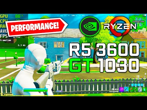 GT 1030 Fortnite Performance Mode | Arena Low Settings 1080p