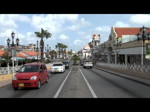 Oranjestad Main Street zoom Travel Video