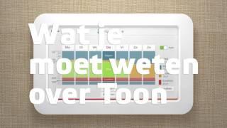 Instellen thermostaat programma Toon