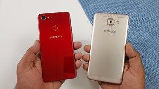 Oppo F7 vs Samsung J7 Max Speed Test Comparison !