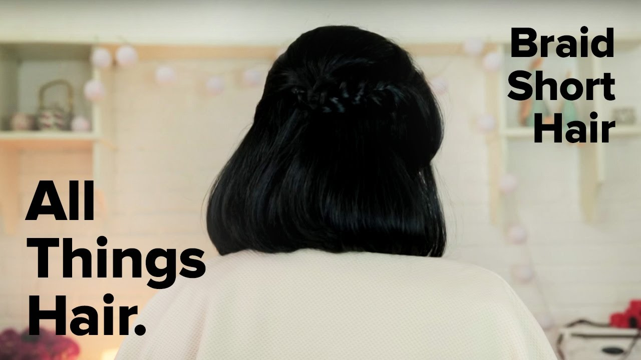 Cara Kepang Untuk Rambut Pendek By Lizzie Parra YouTube - Gaya rambut pendek kepang