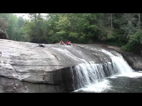 Sliding Rock With 15 Foot Drop Off At Turtle Back Falls