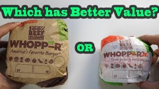 Which has more Value a Whopper or Whopper Jr.