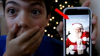 Repeat youtube video CALLING THE REAL SANTA CLAUS! *HE ANSWERED* OMG!
