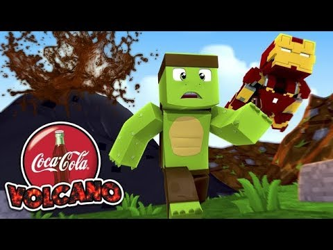 GIANT COCA - COLA VOLCANO ERUPTS - Minecraft VERSUS w/ Tiny Turtle
