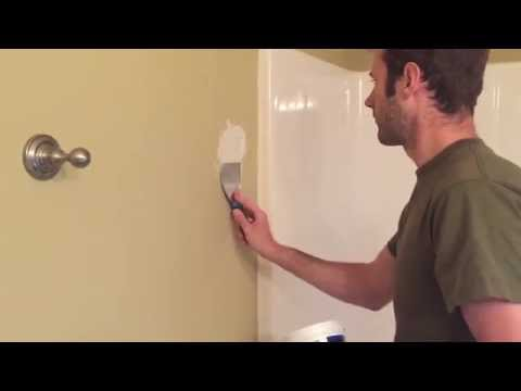 How to Repair a Hole in Drywall / Wall from Towel Rack