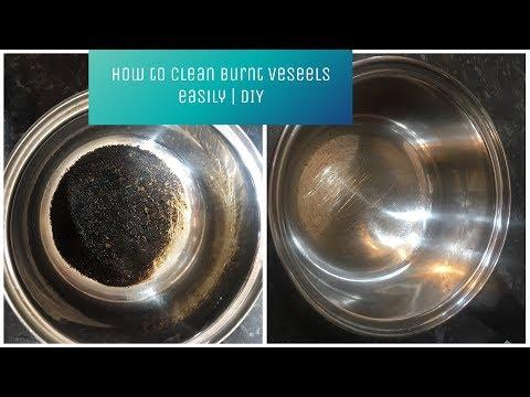 How to clean burnt vessels or milk pan | DIY | In Telugu