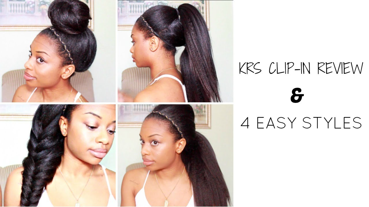 how to style hair extensions 4 easy styles ft knappyhair extensions doovi 2999
