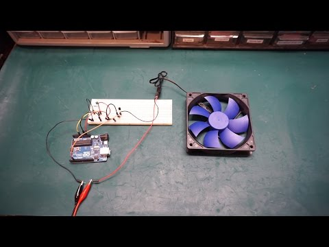 Arduino Temperature Controlled Fan Speed