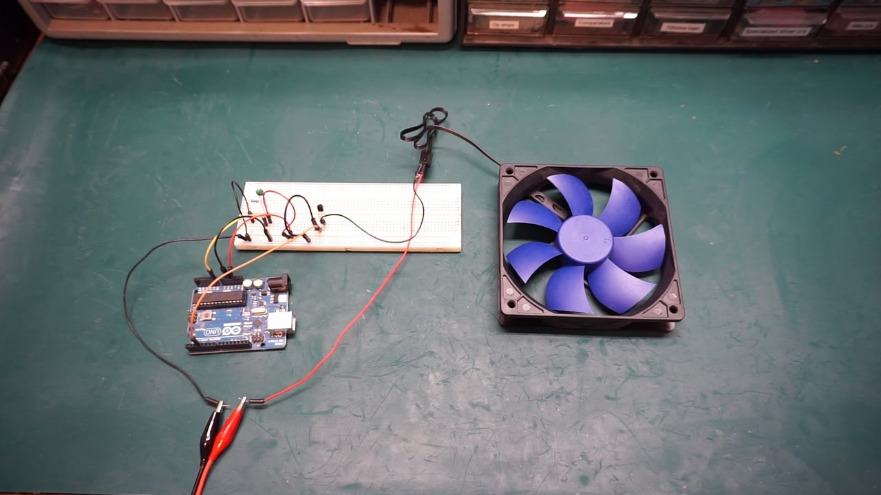 Arduino Temperature Controlled Fan Speed Youtube Pc Heat Monitor Circuit Piezoelectric Sensor